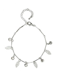 A Silver Winter Anklet