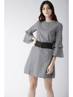 All The Right Moves Gingham Dress