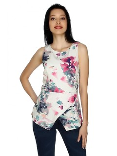 Amidst The Flowers Peplum Top