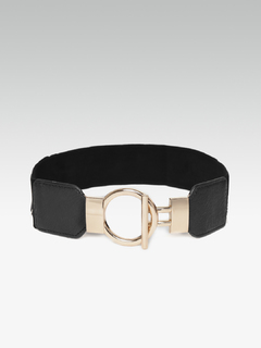 Toggled In You Black Waist Belt