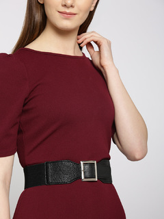 Classic Square Buckle Waist Belt