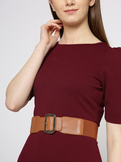 Brown Trio Of Symmetry Waist Belt