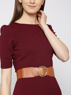 Brown Stay In Our Circle Waist Belt