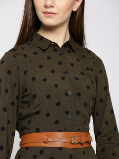 Brown Sliding Your Way Waist Belt