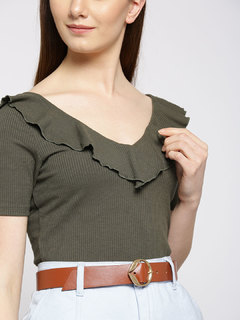 Brown Leaf Me Out Belt