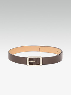 Dark Brown Curved Corners Square Belt