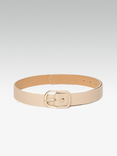 Half And Half Beige Enamel Belt