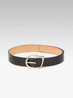 Soft Moulded Black Statement Belt