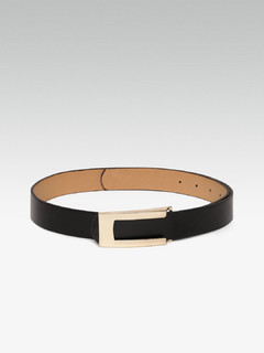 Thin Futuristic Black Belt