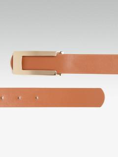 Accessories-Thin Futuristic Brown Belt