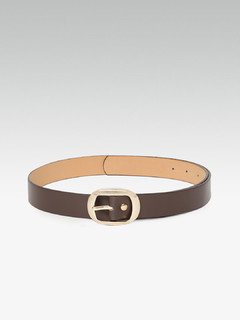 Elongated Circle Dark Brown Belt
