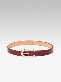 Sleek Understated Maroon Belt