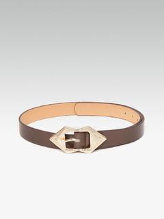 Left Or Right Arrowheads Dark Brown Belt