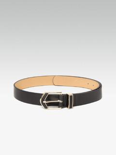 Accessories-Exuberant Enamel Black Belt