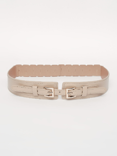 Beige Keep It Cinched Waist Belt