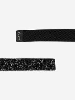 Accessories-Twinkling In Black Broad Belt