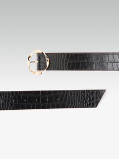 Accessories-The Circular Twists Black Belt