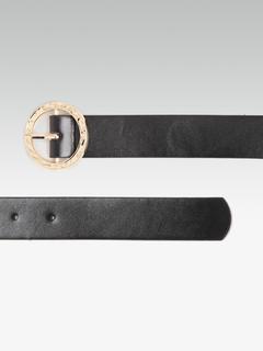 Accessories-The Textured Gold Black Belt