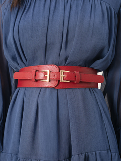 Accessories-Maroon Two Is Better Belt