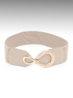 Accessories-Beige Loosen Up With Style Belt