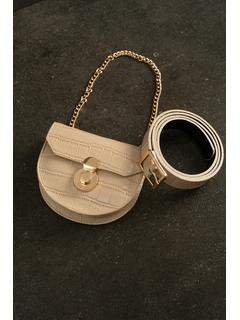 Accessories-Beige Just A Wild Thing Belt Bag