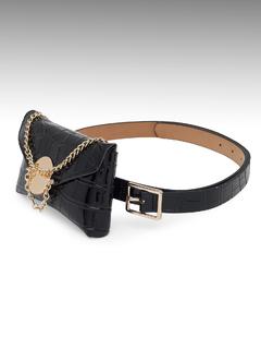 Accessories-Black Wild But Fragile Belt Bag