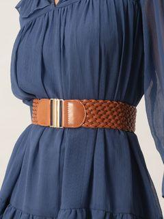 Accessories-Brown Just Like Braided Belt
