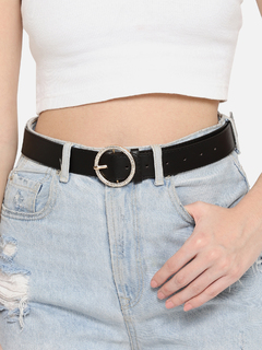 Accessories-Black Season To Sparkle Belt
