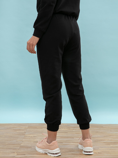 Apparel-On The Run Black Joggers