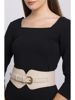 Band Of Braid Beige Waist Belt
