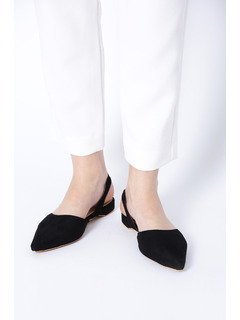 Black Slide Into The Classic Flats