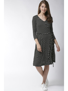 Black Stripe Me Baby One More Time Dress