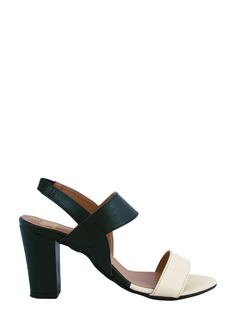 Black To My White Colorblock Heels