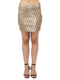 Apparel-Blazing Nights Sequin Skirt