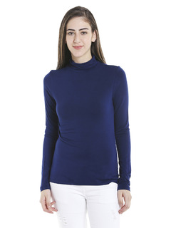 Blue Keep Me Warm Turtleneck Top