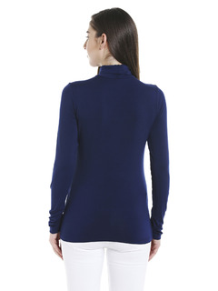 Apparel-Blue Keep Me Warm Turtleneck Top