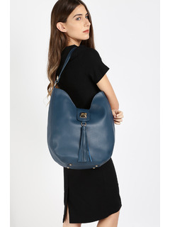 Blue The Big Stud Tassel Handbag