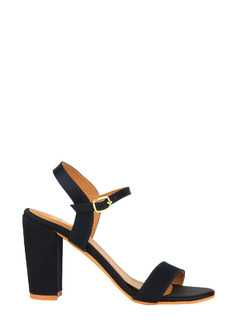 Blue Time To Shine Satin Block Heels