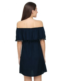 Apparel-Blues Of The Bardot Dress