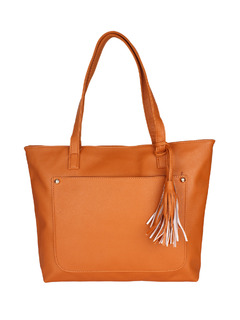 Brown Pocket The Tassel Handbag