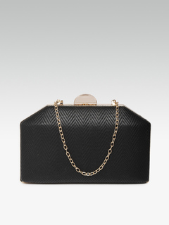 Golden On The Edges Black Clutch