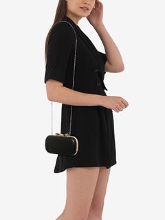 Bags-Blazing In Black Clutch