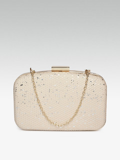 Eclipsed In Love Beige Clutch