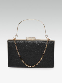 Love So Pure Black Clutch