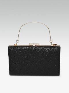 Bags-Love So Pure Black Clutch