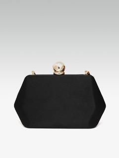 Bags-My Dear Black Clutch