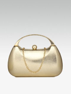 Dance All Evening Gold Clutch