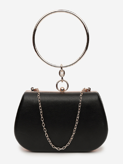 The Eye Catcher Black Clutch