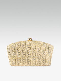 Bags-Woven With Love Box Clutch