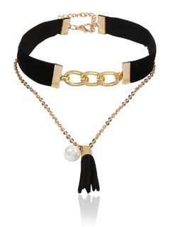 Chain Me Up Black Choker Necklace
